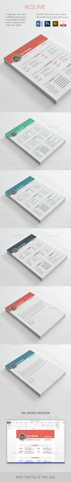 Clean Resume\/CV u2014 PSD Template #inspiration #vector resume #resume - resume form download