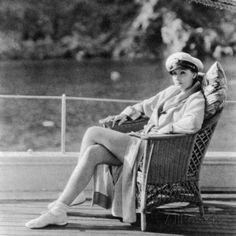 A portrait of Greta Garbo on her yacht off Catalina Island. Greta Garbo was born in Stockholm and was 'spotted' whilst studying at the Royal Theatre Dramatic. Old Hollywood Stars, Golden Age Of Hollywood, Classic Hollywood, Hollywood Style, Vintage Hollywood, Twiggy, Divas, Celebrities Then And Now, Cinema