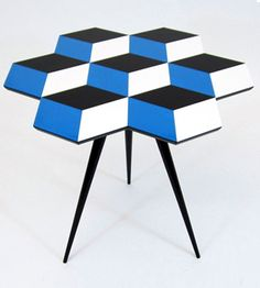 i keep noticing geometric patterns that remind me of the blue and white ceramic tile that italian architect *gio ponti designed for the parco dei prinicipi hotel in sorrento, italy. Table Sofa, Table Furniture, Modern Furniture, Home Furniture, Furniture Design, Futuristic Furniture, Plywood Furniture, Chair Design, Geometric Furniture