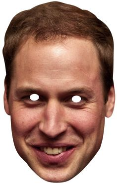 Prince William Duke of Cambridge Royal card party face mask. Free UK delivery and worldwide shipping from Starstills. Queen 90th Birthday, 90th Birthday Parties, Printable Masks, Printables, Party Face Masks, English Royal Family, Party Themes, Party Ideas, Card Party