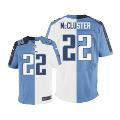 Dexter McCluster Men's Limited Team/Road Two Tone Jersey: Nike NFL Tennessee Titans #22