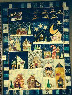 North Pole City quilt