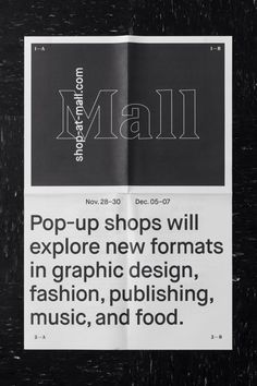 pop up shops Editorial Layout, Editorial Design, Layout Inspiration, Graphic Design Inspiration, Manado, Book Design, Layout Design, Type Design, Typography Layout