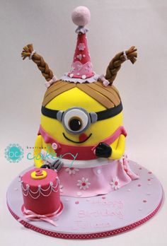 Minion Girl - Cake by Boutique Cakery