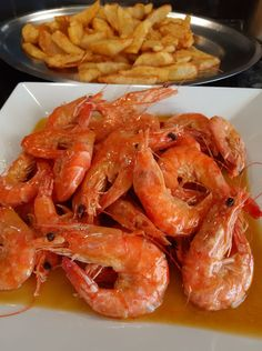 Seafood Dinner, Shrimp, Fish, Meat, Cooking, Recipes, Greek Recipes, Kitchen, Pisces
