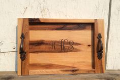 A personal favorite from my Etsy shop https://www.etsy.com/listing/245483001/rustic-hickory-monogram-wood-burned