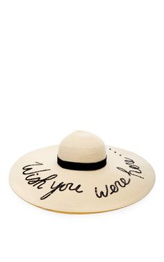 06baedf78258f Sunny Floppy Brimmed Hat With Black Sequined Script by EUGENIA KIM Now  Available on Moda Operandi