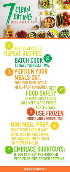 7 tips for clean eating // meal prep, eating clean, meal prep tips, meal plans, . Clean Eating Tips, Healthy Eating Tips, Healthy Recipes, Healthy Dinners, Yummy Recipes, Diet Recipes, Healthy Snacks, Chicken Recipes, Ketogenic Diet Meal Plan