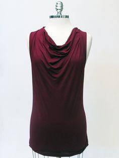 Azura Boutique - Feel the Piece Cowl Tank in Crimson, $99.00 (http://www.shopazura.com/feel-the-piece-cowl-tank-in-crimson/)