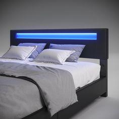 Room Ideas Bedroom, Bedroom Decor, Led Bed Frame, Business Goals, Platform Bed, Queen Size, Cool Furniture, Modern Contemporary, Home Goods