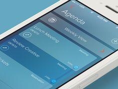 Dribbble - Agenda by Rovane Durso - iOS7 I'm busy curating iOS7 links, Everyday.