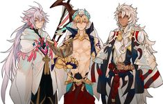Fate/Grand Order || Grand Casters || Merlin, Gilgamesh and Solomon