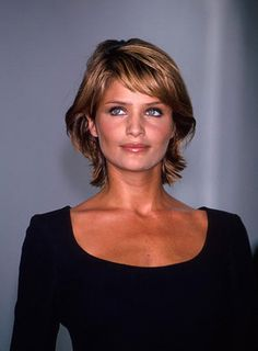 Fine Hair Style Short Hair Cuts for Women Over 50 | Helena Christensen's shag is asymmetrical and funky. See how to get ...