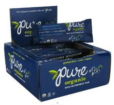 Pure Bar 33678 Organic Wild Blueberry Raw Bar