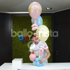 Balloon Arch Diy, Balloon Crafts, Balloon Gift, Balloon Bouquet, Birthday Balloon Decorations, Diy Wedding Decorations, Birthday Balloons, Mini Balloons, Balloon Arrangements