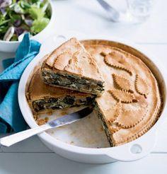 Cuisinons végétariens ! Recette de tourte aux blettes sur Marie Claire Idées - Vegan pie recipe on Marie Caire Idées