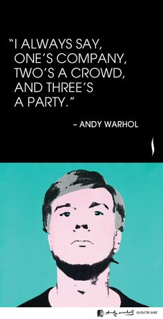 """I always say, one's company, two's a crowd, and three's a party"" - Andy Warhol #NARS #Sephora"