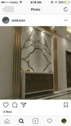 Foyer Design, Lobby Design, Ceiling Design, Wall Design, House Design, Classic Interior, Modern Interior, Interior Design, Tv Wall Decor