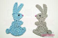 Аппликация заяц. #заяйпасха #кроликкрючком #пасхакролик #аппликациякрючком #заяйкрючком #пасхакрючком