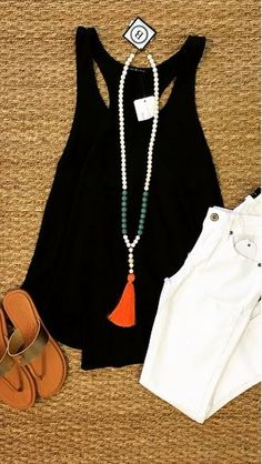 With the right cardigan, this would be perfect teacher attire during the day. Remove the cardigan for teachers night out after school. I love the pop of color on the necklace!