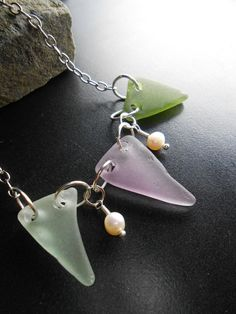 Sea Glass Jewelry  Seaglass Necklace  A BANNER by SeaFindDesigns, $67.99