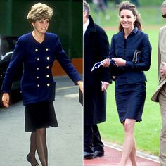 Kate Middleton - Princess Diana - Blue - Suit
