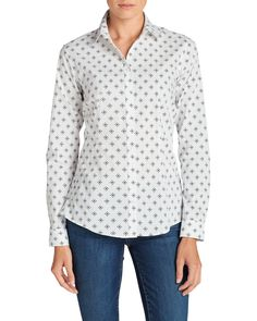 Women's Wrinkle-free Long-sleeve Shirt - Print | Eddie Bauer