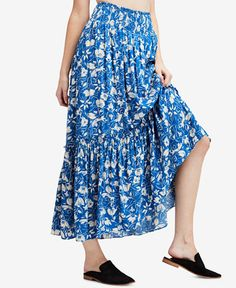 Free People Way Of The Wind Printed Maxi Skirt