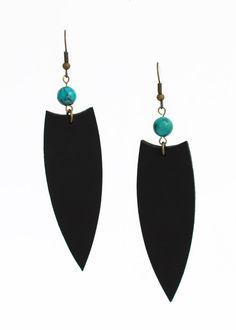 Mystical earrings - arrowhead earrings - turquoise earrings