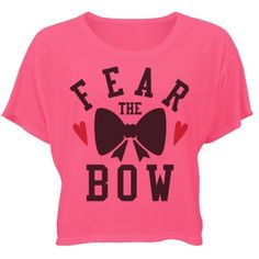 Cheer Neon Fear The Bow | FEAR THE BOW! You are one fierce cheer girl. Get ready for the cheerleading season with a cute crop top shirt. Perfect to wear to school, football games, practices and more.