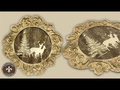 Karton keret decoupage technikával - hátlap + csipkés keret Decoupage Box, Cold Porcelain, Hobbit, Techno, Art Decor, Decorative Plates, Xmas, Paper, Youtube