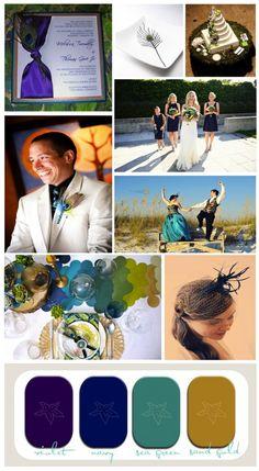 Peacock Inspired Destination Wedding #peacockwedding #purpleandnavywedding