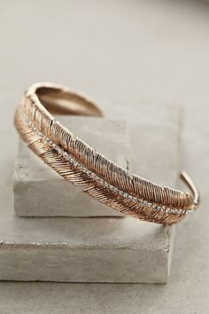 Feathered Cuff - anthropologie.com