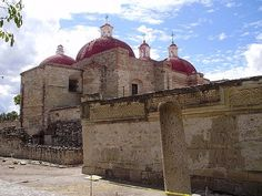 Church at Mitla ruins, Mitla, Mexico