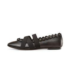 AGL oriental flower ballet flat #agl #aglshoes #shoes #oriental #flowers #petals #leather #ballet flat #madeinitaly #fashion #style  #italianstyle