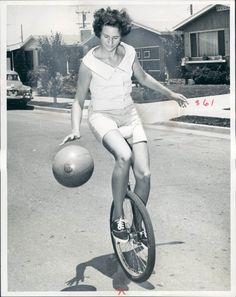 unicycle, basketball