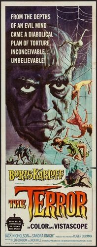 Movie Posters:Horror, The Terror (American International, 1963). Insert ...