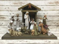 STABLE CRECHE for Demdaco Willow Tree Angels by WoodenHeartsInc