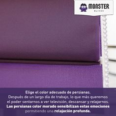 Elige el color adecuado de persianas. #monsterblinds #decoracion #estilo #casa #hogar #persianas #blinds #design #interiordesign #remodela #color