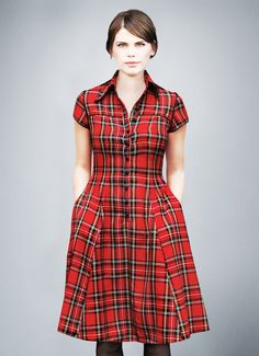 Hey, I found this really awesome Etsy listing at https://www.etsy.com/listing/205259705/vicky-tartan-shirt-dress