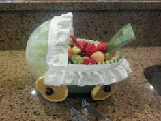 Baby carriage watermelon bowl!