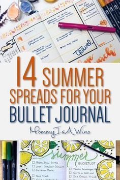 Bullet Journal Spreads - 14 Summer Spreads for Your Bullet Journal - Habit Trackers, Weekly Spreads, Summer Goals for Bullet Journal #BulletJournal #Journal #BUJO #bujolove #journallove #bujospreads #bujolayouts #spreads #layouts