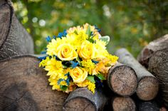 Blue And Yellow Flowers For Wedding Xzqeym