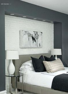 #ClippedOnIssuu from Est Magazine #4 - brick wall inset from bulkhead surround in dark gray