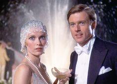 "Mia Farrow and Robert Redford as Zelda ""Daisy"" Buchanon and F. Scott Fitzgerald, The Great Gatsby, 1974."