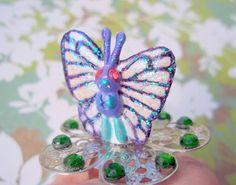 Kawaii Butterfree Pokemon Jewelry Ring by RainbowCastle on Etsy, $14.99