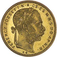 Franz Joseph I. 1848 - 1916 8 Forint 1890 KB Gold mit Fiumewappen