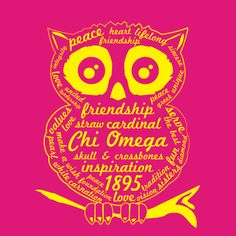 Chi Omega. The reason for my Owl Obsession!