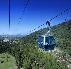 First Loop Air Cable Car in Taiwan over the Formosa Aboriginal Culture Village