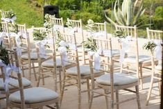 Chair decoration for your wedding ceremony in Greece  #weddingplanner